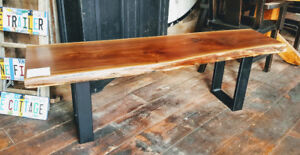 New Walnut Live Edge Bench for sale