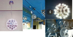 Ceiling Lamp; Chrome finished