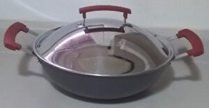 Ikea IDENTISK Wok with Lid, Dark Grey, Cast Iron
