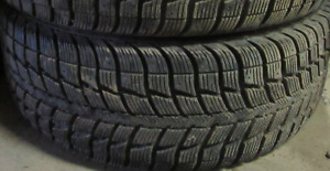 90% TREAD*215//55//17 FEDERAL WINTER TIRES (2 OF THEM)