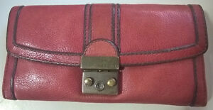 Fossil - Long Live Vintage Red Leather Wallet