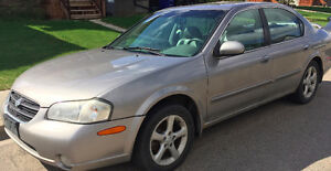 2001 Nissan Maxima Sedan with 4 winter tires
