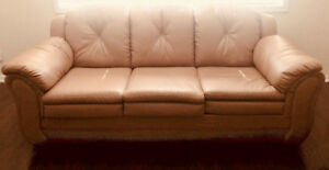 Faux leather 5-person sofa set in mint condition