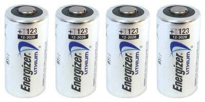 4 X Energizer Cr123a Cr123 123A Lithium Battery Exp 2026