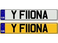 FIONA - A VERY SPECIAL AND BEAUTIFUL NAME ON A PRIVATE NUMBER PLATE FOR SALE