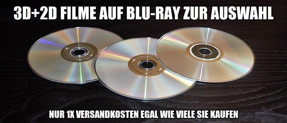 Filme in 3D+2D auf Blu-Ray zur Auswahl / nur 1x Versandkosten !!