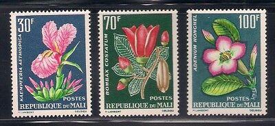 Mali  1963  Sc #55-57  Flowers  MNH  (42798)