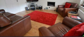 Gorgeous Brown Leather sofa & armchairs - Only 6 years old!