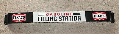 TEXACO Gasoline Filling Station Screen Door Push Pull Bar Embossed Metal Sign