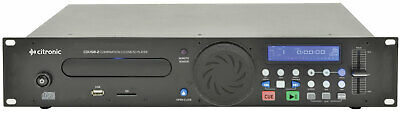 Citronic CDUSB-2 Single CD Player + USB + SD Media Player Studio Pub Bar Dj + FX