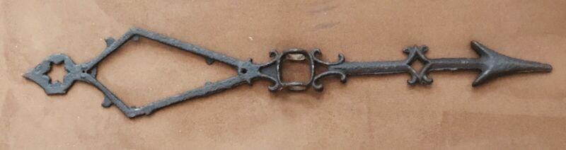 Primitive Iron Late 1800's Kite Tail Weathervane/Lighning Rod Arrow