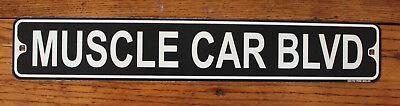 Muscle Car Decor (Metal Street Sign Muscle Car Blvd Auto Racing Nascar Man Cave Bar Decor)