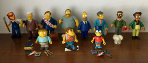 Playmates World Of Springfield SImpsons Figures and Playsets Lot