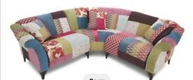 DFS Shout Corner Sofa And Footstool
