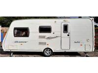 LUNAR QUASAR 524 2008 4 berth with End Washroom and shower Touring Caravan.