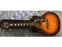 Ej200ce sunburst acoustic guitar