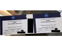 Drake Platinum Tickets o2 Monday 30th January ( 4 rows from front ) £350 each x 2