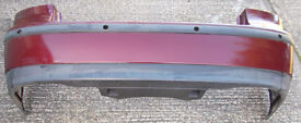 SAAB 9-3 Rear Bumper, Merlot Red 284 (Saloon 03-07)
