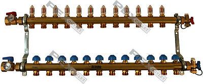 Rehau Pro-balance Radiant Floor Heat Manifold For Pex Pipe - 12 Circuit