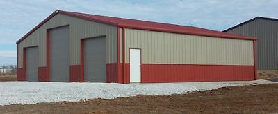 Steel Building 40x60x12 Simpson All Galvalume Metal Building Workshop Kit