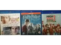 BLU-RAYS £4 Each or £10 The Lot JANE EYRE HARRY POTTER &THE HALF BLOOD PRINCE HIGH SCHOOL MUSICAL 3