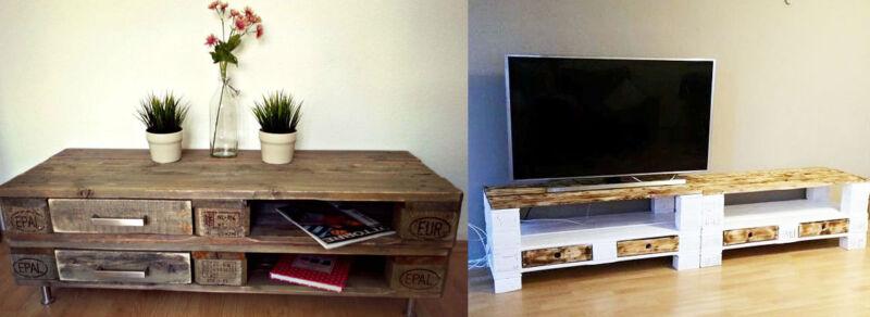 Von shabby-chic bis modern: Palettenmöbel sind vielseitig. (© Panoply Design / Palettenmöbel AE)