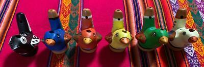 Warbling Bird Whistle (Peruvian Hand-Painted Ceramic WARBLING BIRD WATER WHISTLE - Various Color -)