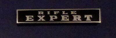 RIFLE EXPERT Silver/Black Uniform Commendation/Award Bar Pin police/sheriff