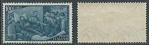 1948 ITALIA RISORGIMENTO 100 LIRE GOMMA NON ORIGINALE - B10
