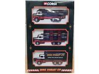 Corgi Eddie Stobart 3 Piece Set 60011 (Scania LT145 Trucks)