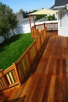 Outdoor staining! Protect your wood from weather