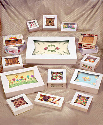 25 Window Bakery Box 8x8x4 White For Cupcake Cookie Candy Favor Gift