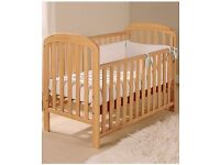 Mother care baby cot with mattress