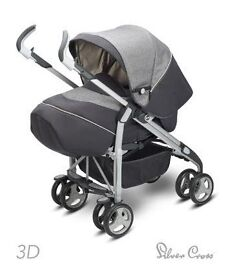 Silver Cross 3D Complete Pram and Pushchair - Metropolitan - prams & pushchairs - Mothercare