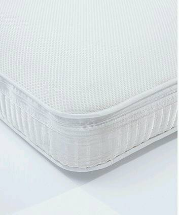 Zip on cover for Mothercare Airflow Pocket Spring Cot Bed Mattress - 70cm x 140 cm (cover only)