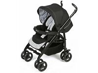 SILVER CROSS MONACROME 3D PRAM/PUSHCHAIR TO INCLUDE RAINCOVER & FOOT APRON.