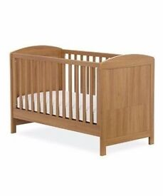 Mothercare oak effect cotbed in excellent condition