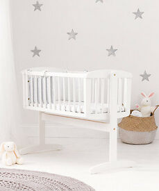 White Swinging Mothercare Crib