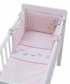 baby girl butterflies crib set from mothercare