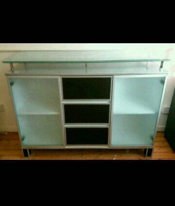 Glass top side unit