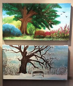Summer and Winter Landscape Paintings Peterborough Peterborough Area image 1