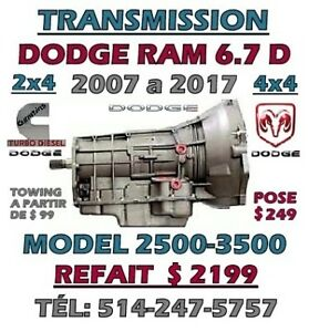 TRANSMISSION AUTOMATIQUE 6.7 DIESEL DODGE RAM 2500-3500