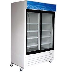 Fridge 2 Door Sliding Glass  *RESTAURANT EQUIPMENT PARTS SMALLWARES HOODS AND MORE*