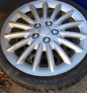 4 winter tires/rims/hubcaps