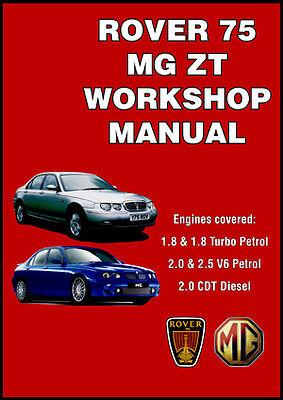 Rover 75 & MG ZT Workshop Manual Petrol Diesel 1999-2005 NEW