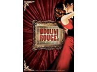 4x Secret Cinema Moulin Rouge tickets to SOLD OUT Friday 7th April 2017 event in London