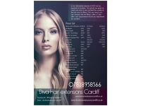 Diva Hair extensions Cardiff 07828958566