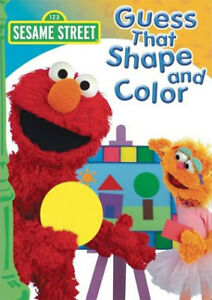 Sesame Street-Guess That Color and Shape dvd-Excellent +