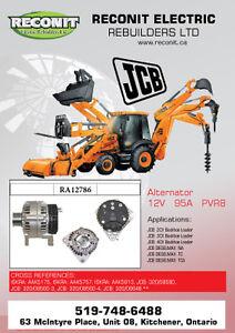JCB equipment Starter and Alternator