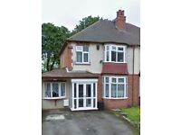 THREE BEDROOMS:SEMI-DETACHED: HANDSWORTH :PART FURNISHED:OFF STREET PARKING:REAR GARDEN:ONLY £650PCM